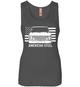 Square Body American Steel Womens Tank Top