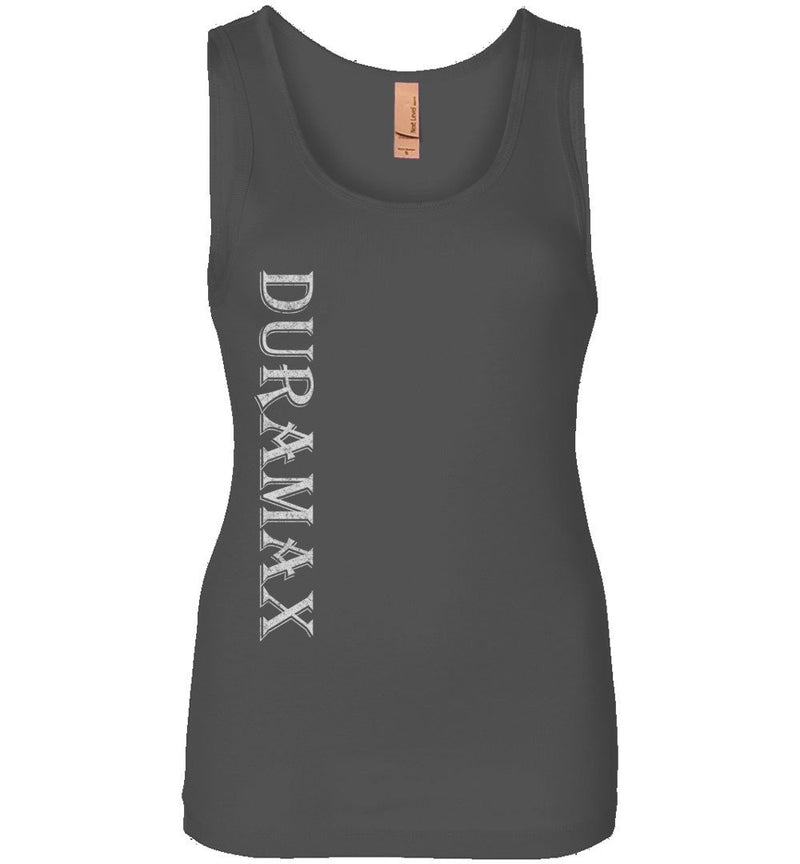 Grey LBZ Duramax Diesel Truck Womens Tank Top From Aggressive Thread Truck Apparel