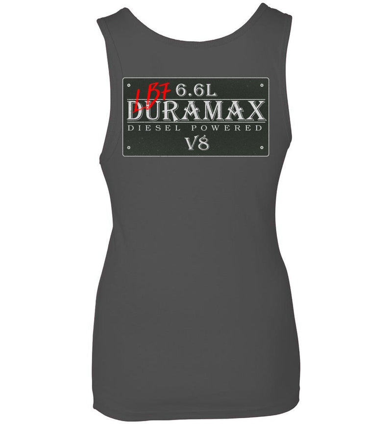 Grey LB7 Duramax Diesel Truck Womens Tank Top From Aggressive Thread Truck Apparel