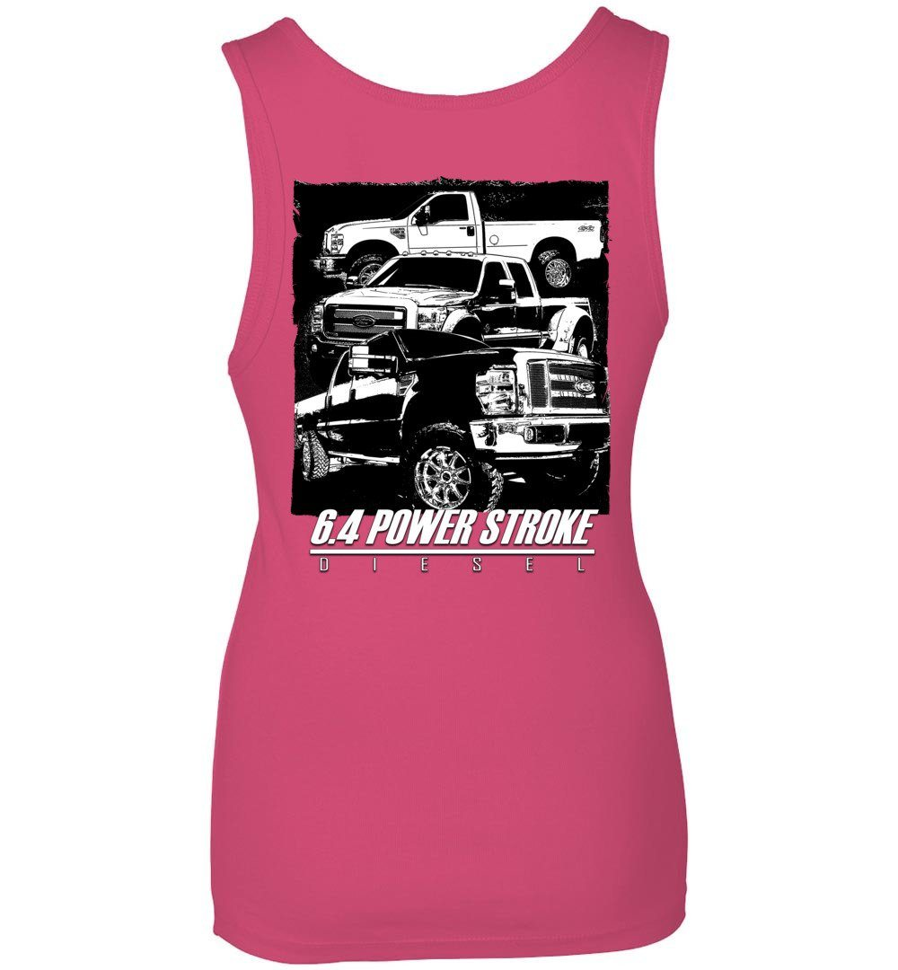 6.4 Power Stroke | Powerstroke Diesel Tank Top | Aggressive Thread Truck Apparel