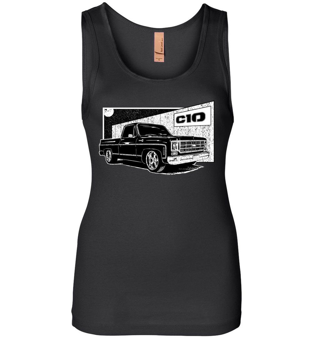 Round Eye Square Body Chevy C10 Womens Tank Top