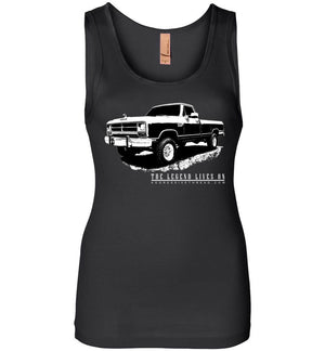 First Gen Dodge Ram Truck Tank Top For Women | Aggressive Thread Diesel Truck Designs