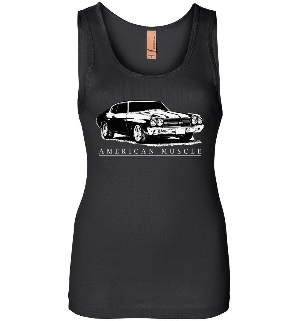 1970 Chevelle American Muscle Car Womens Tank Top Shirt