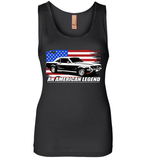 67 Ford Mustang Fastback - An American Legend Tank Top | Aggressive Thread