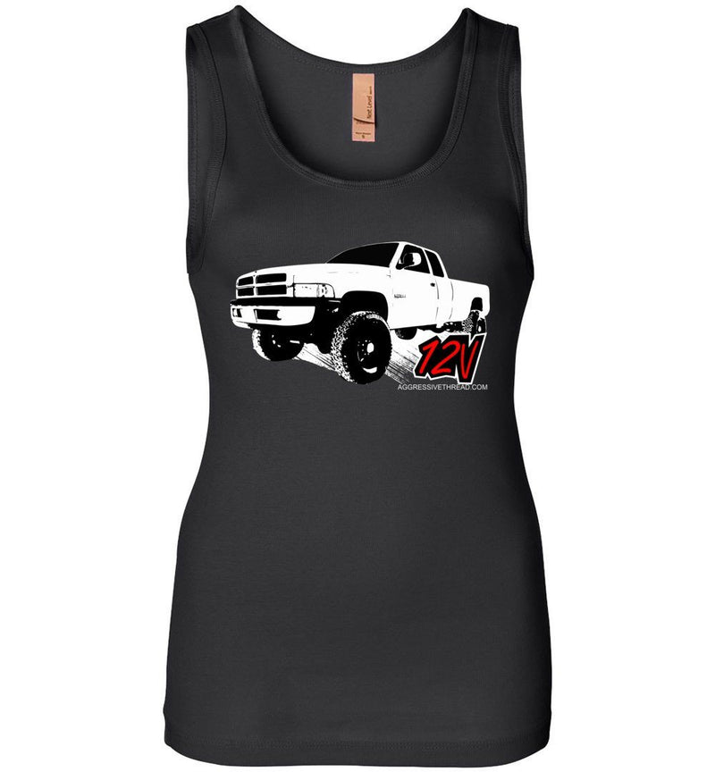Second Gen Dodge Ram | 12V Cummins | Womens Tank Top - Aggressive Thread Diesel Truck T-Shirts