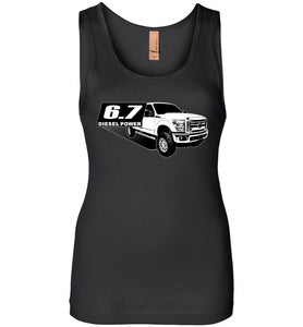 Power Stroke 6.7 Diesel Powerstroke Womens Tank Top Frome Aggressive Thread Truck Apparel