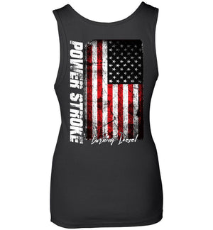 7.3 Power Stroke Powerstroke Burning Diesel Womens Tank Top