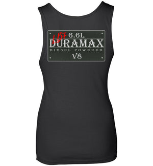 LB7 Duramax Vintage Sign Double Sided Print Womens Tank Top