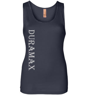Navy Blue LLY Duramax Diesel Truck Womens Tank Top From Aggressive Thread Truck Apparel
