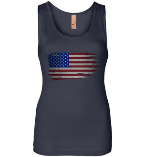 Distressed American Flag Womens Tank Top