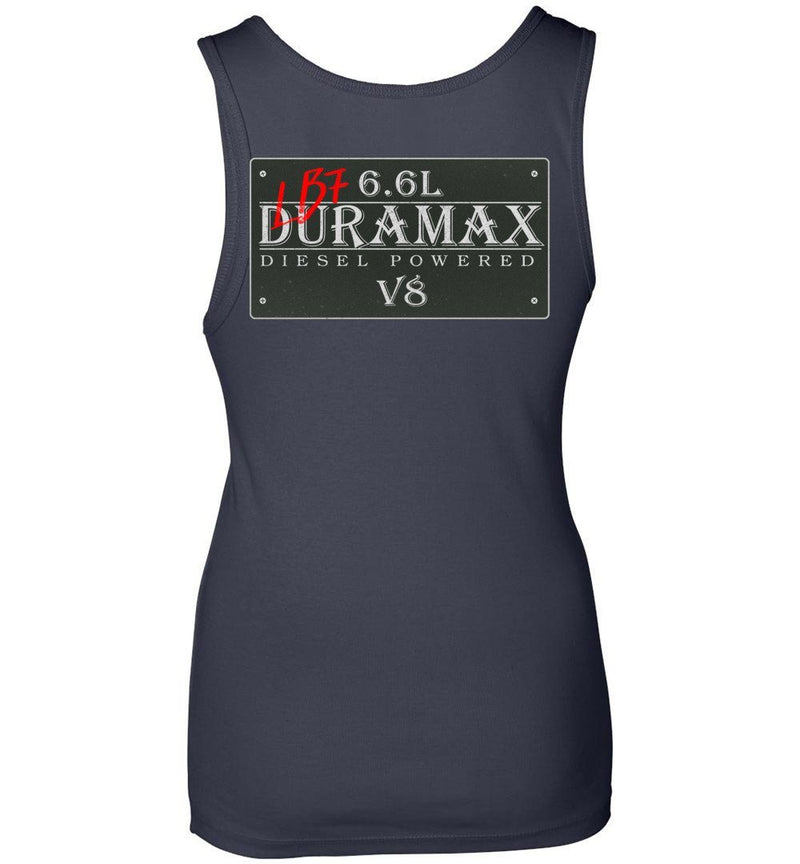 Blue LB7 Duramax Diesel Truck Womens Tank Top From Aggressive Thread Truck Apparel