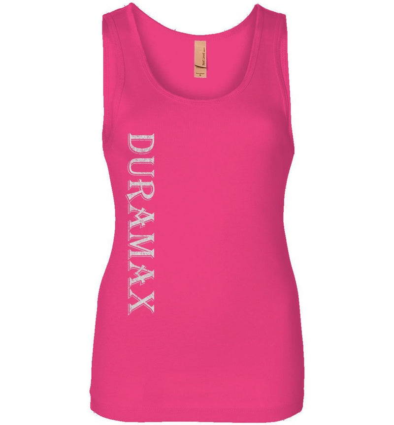 Pink LBZ Duramax Diesel Truck Womens Tank Top From Aggressive Thread Truck Apparel