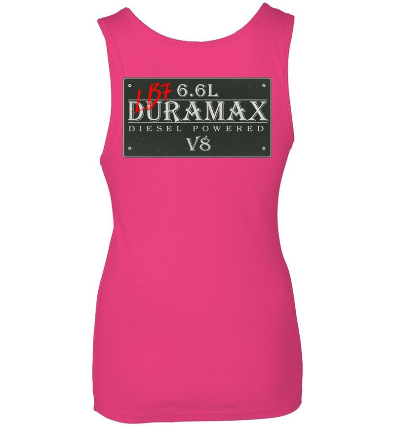 Pink LB7 Duramax Diesel Truck Womens Tank Top From Aggressive Thread Truck Apparel