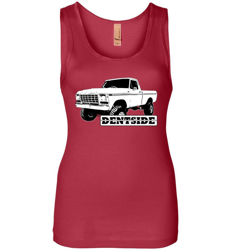 Dentside 4x4 Pickup Womens Tank Top - Aggressive Thread Diesel Truck T-Shirts