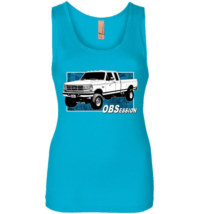 Ford OBS Extended Cab 4X4 Womens Powerstroke Tank Top