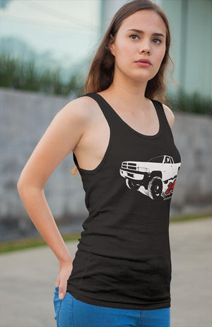 24v Second Gen Dodge Womens Tank Top - Aggressive Thread Diesel Truck T-Shirts