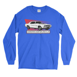 1969 Camaro Vintage Muscle Car Long Sleeve T-Shirt