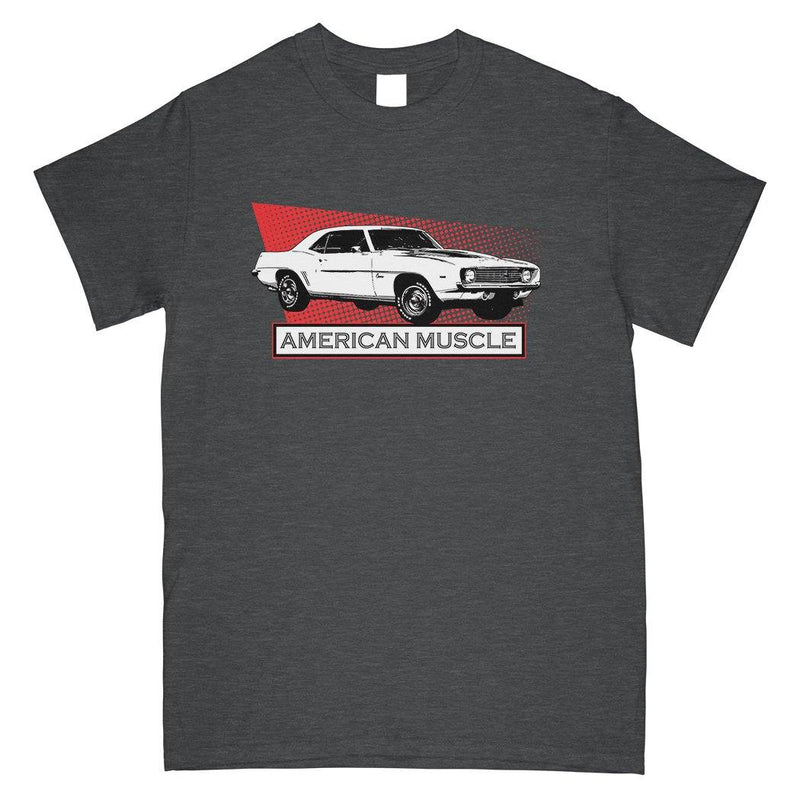 1969 Camaro T-Shirt | Chevy Camaro Apparel | Aggressive Thread Muscle Car Apparel