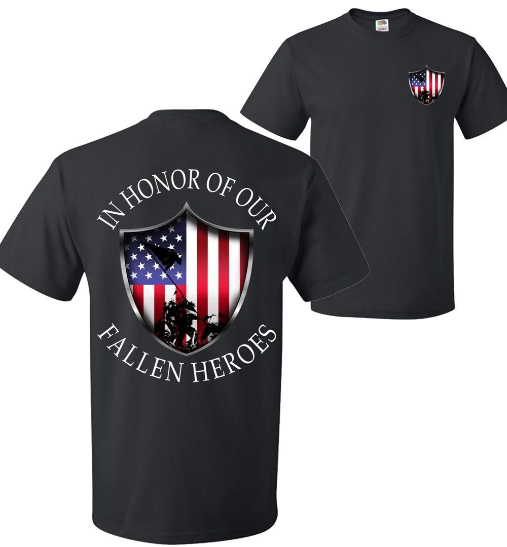 In Honor Of Our Fallen Military T-Shirt | Patriotic | American Flag | USA
