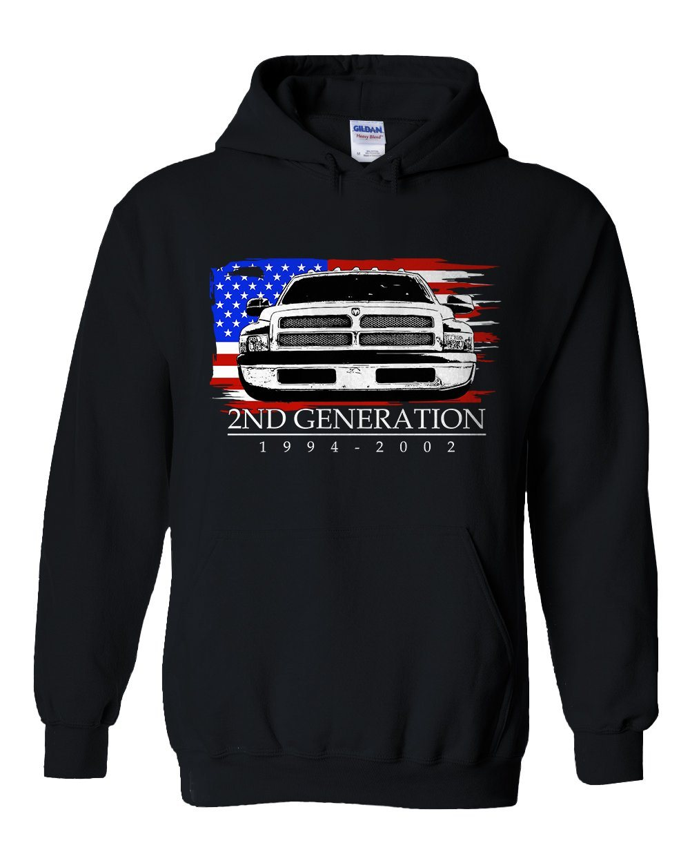 2nd Generation Dodge Ram | 1994-2002 Dodge Ram | second Gen Dodge Ram | Aggressive Thread Truck Apparel | Hoodie Sweatshirt