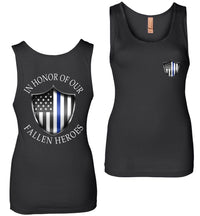 In Honor Of Our Fallen Police Womens Tank Top