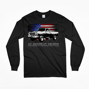 1981-1993 First Gen Dodge Ram Truck Long Sleeve T-Shirt-Black