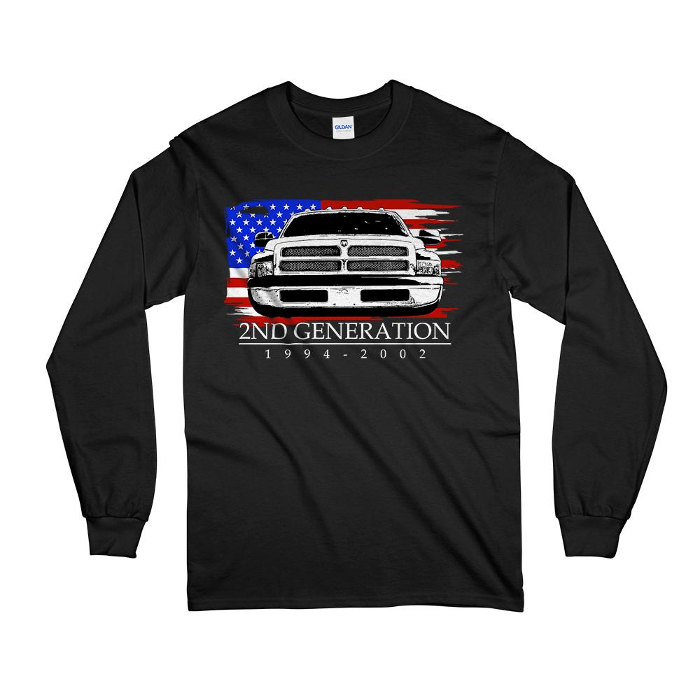 2nd Generation Dodge Ram 1994-2002 Long Sleeve T-Shirt