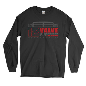 12 Valve Cummins Second Gen Dodge Ram Turbo Diesel Long Sleeve T-Shirt - Aggressive Thread Diesel Truck T-Shirts