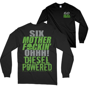 Powerstroke 6.0 Six Long Sleeve Power Stroke T-Shirt Black