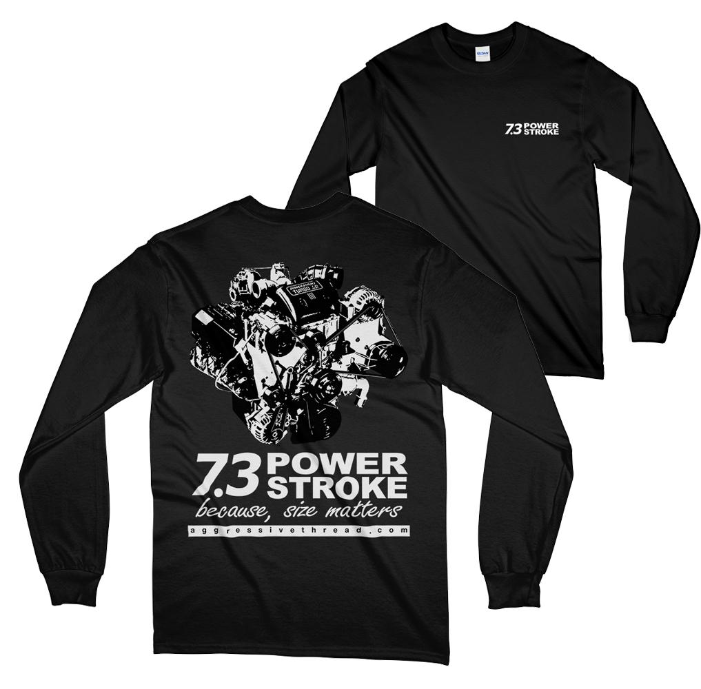 7.3l Power Stroke Long Sleeve T-Shirt - Size Matters