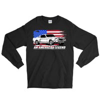 1968 Mustang GT500 Shirt With American Flag - Aggressive Thread