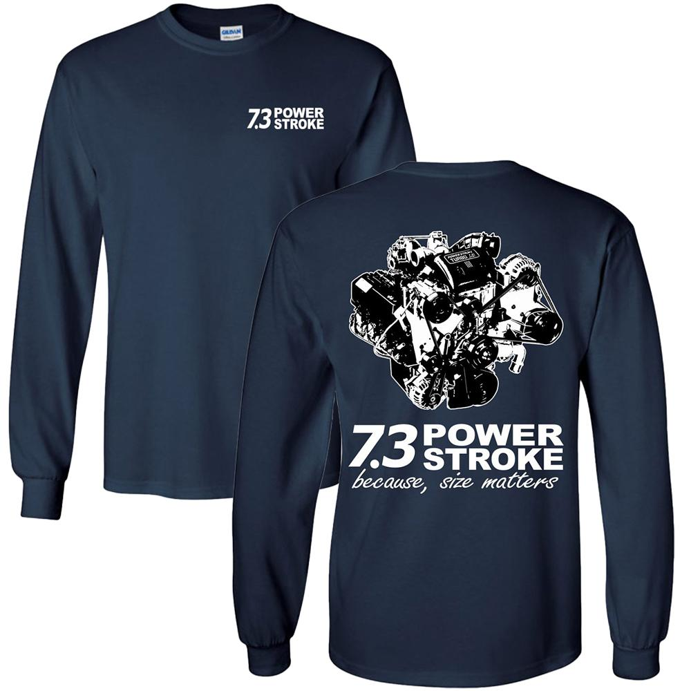 7.3 Power Stroke Size Matters Long Sleeve T-Shirt (🏷️10% OFF - Purchase 2 Or More Items)