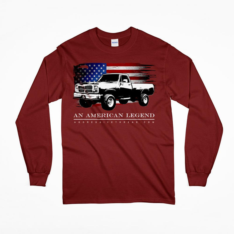 1981-1993 First Gen Dodge Ram Truck Long Sleeve T-Shirt-Red