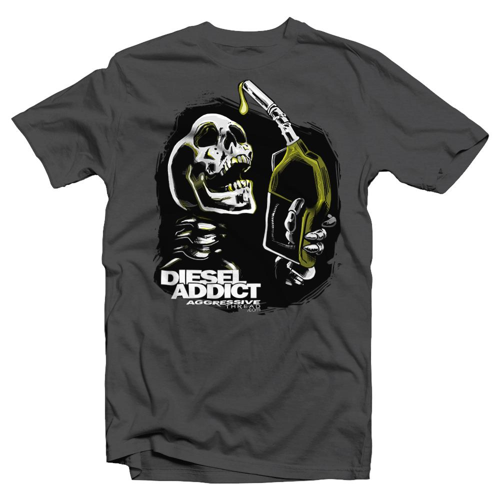 Powerstroke Shirt | Duramax Shirt| Diesel Truck Driver T-Shirt | Aggressive Thread Diesel Truck Apparel