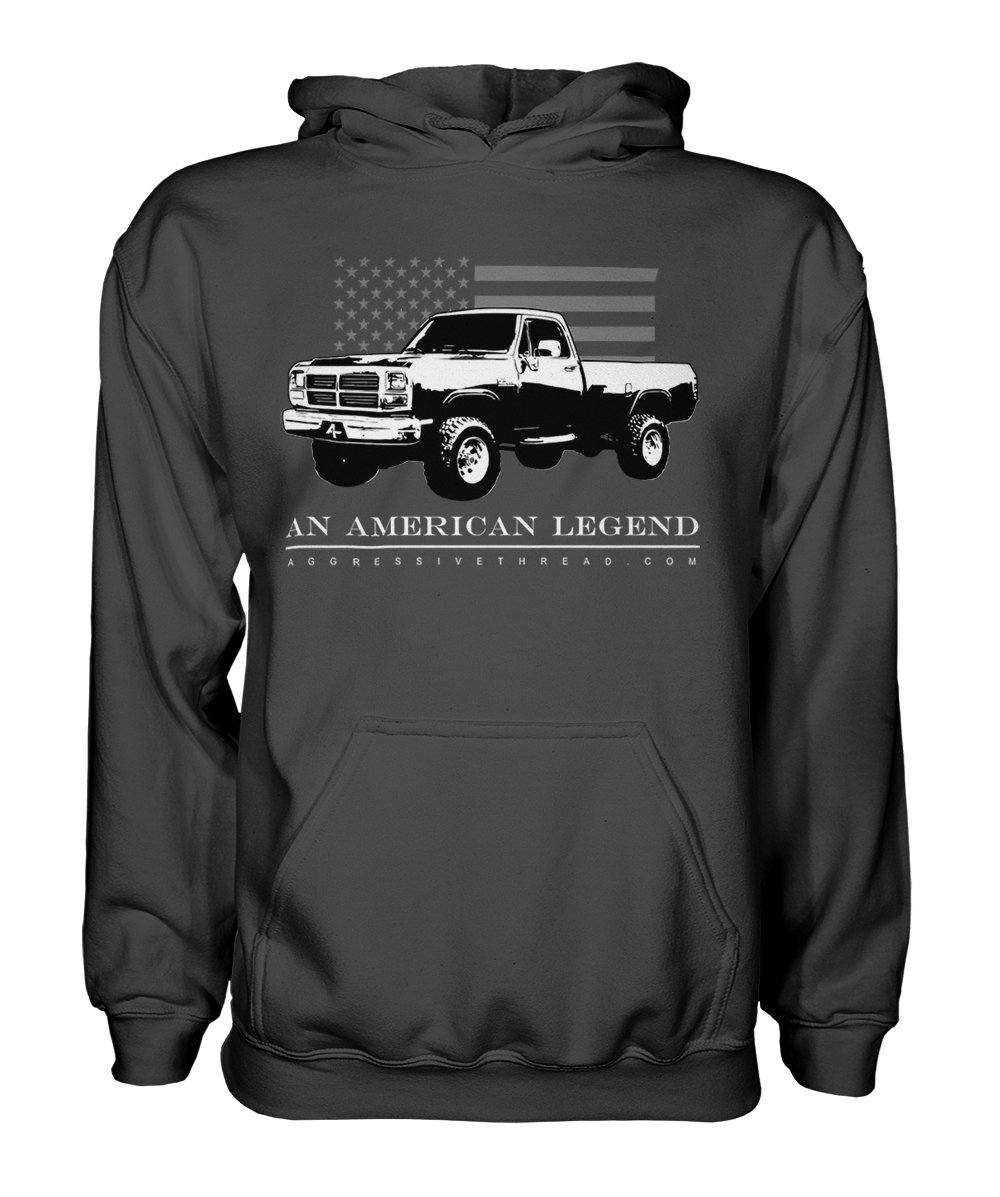 First 1st Gen Dodge Ram Cummins American Flag Hoodie Sweatshirt