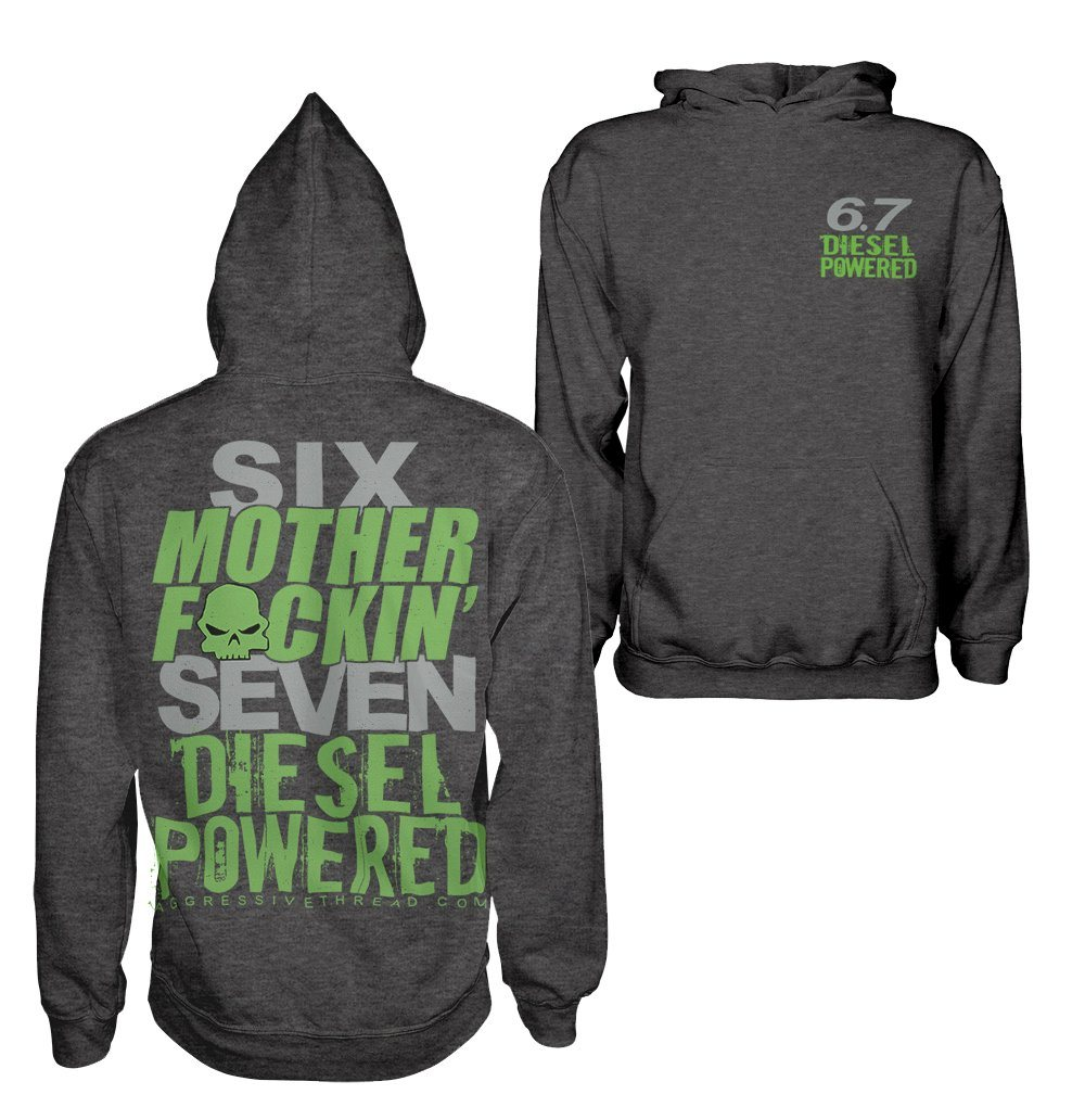6.7l Powerstroke Sweatshirt | Cummins Diesel Hoodie | Aggressive Thread Diesel Truck Apparel