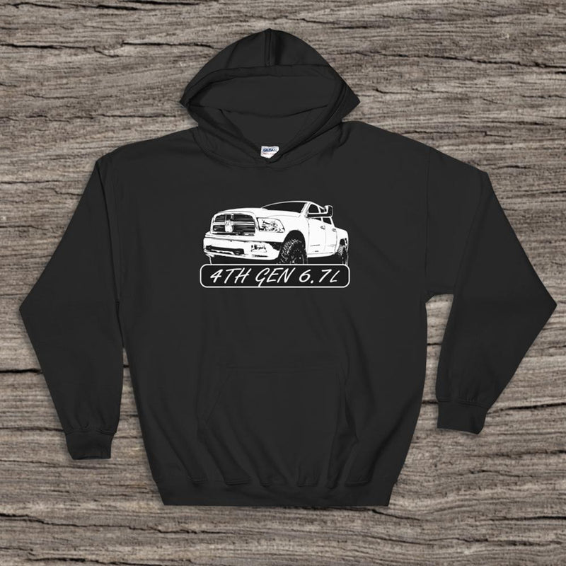 Custom One-of-a-kind Truck Drawing - Aggressive Thread Diesel Truck T-Shirts