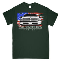 2nd Generation Dodge Ram | 1994-2002 Dodge Ram | Cummins T-Shirt | Aggressive Thread Truck Apparel