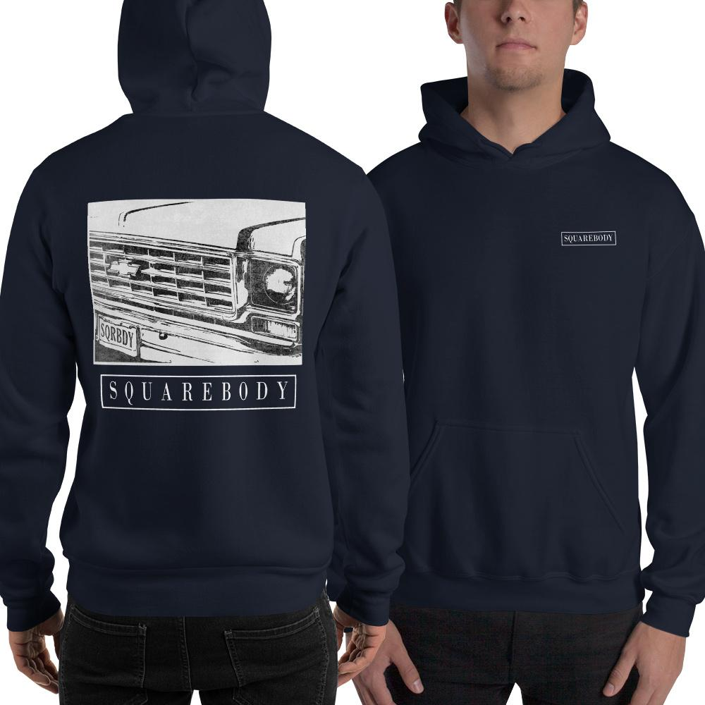 70s Round Eye Square Body | Squarebody Hoodie | Square Body Sweatshirt | Aggressive Thread Diesel Apparel