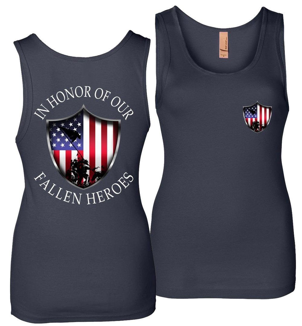 In Honor Of Our Fallen Military Womens Tank Top