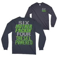 6.4 Powerstroke Long Sleeve T-Shirt - Navy - Aggressive Thread Truck Apparel