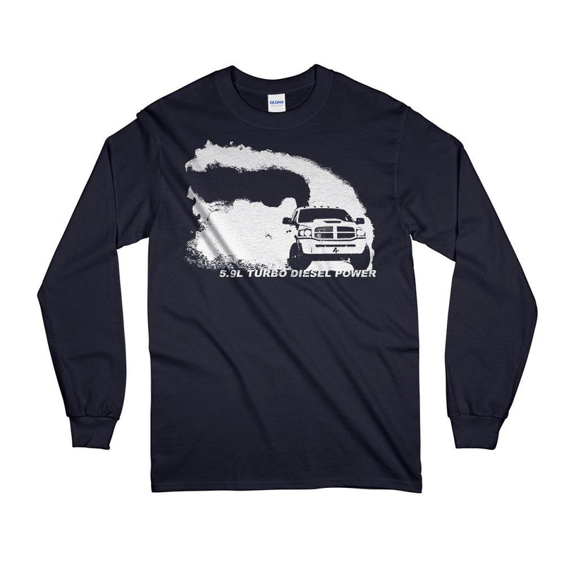 3rd Gen Dodge Ram Cummins burning tires and rolling coal T-Shirt