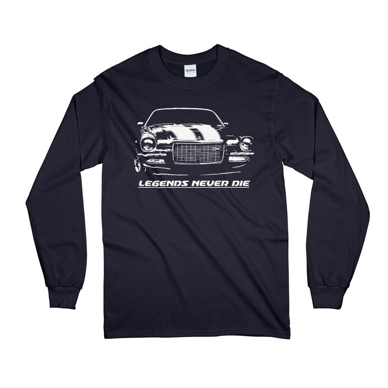 70 71 72 73 Chevy Camaro Split Bumper Long Sleeve T-Shirt