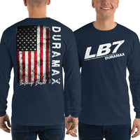 LB7 Burning Diesel Truck Long Sleeve T-Shirt