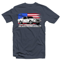 1968 Mustang Gt500 T-Shirt | American Flag | Aggressive Thread Muscle Car Apparel