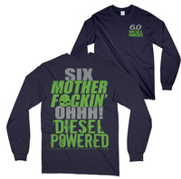 Powerstroke 6.0 Six Long Sleeve Power Stroke T-Shirt Navy