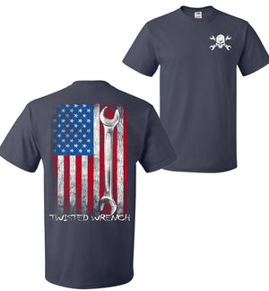 Twisted Wrench American Flag Mechanic T-Shirt