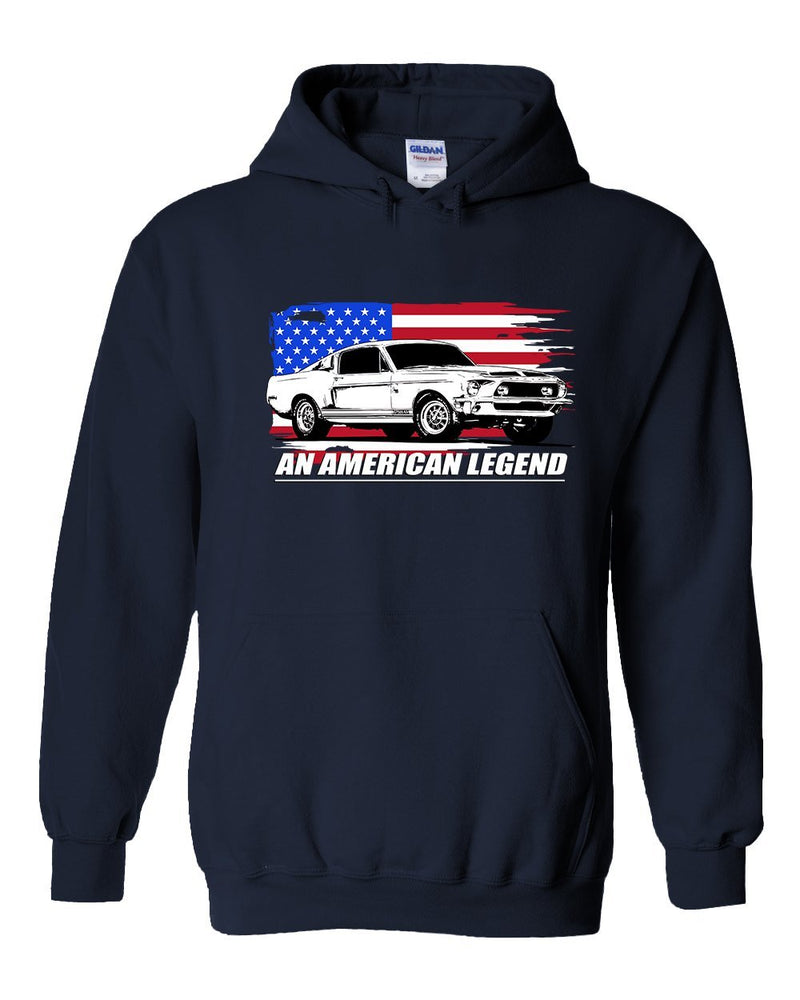 68 Mustang GT500 Hoodie | Aggressive Thread Muscle Car Apparel