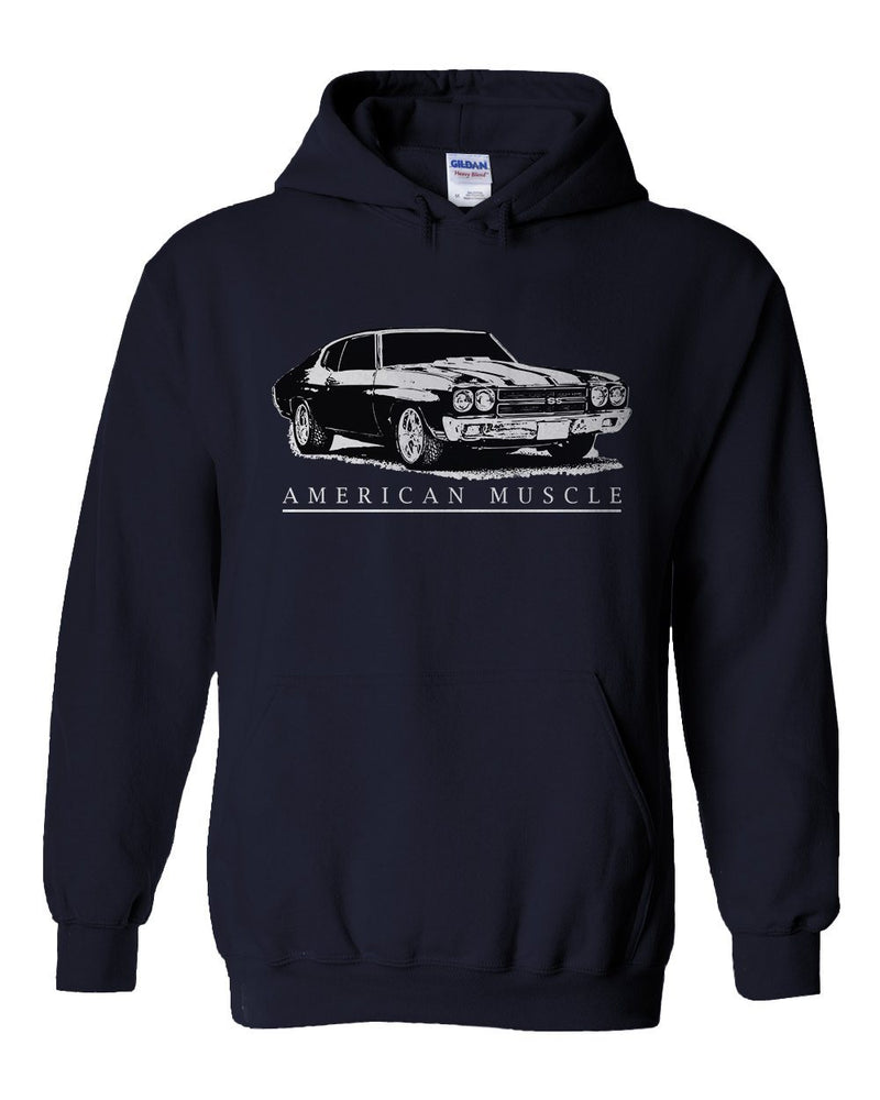 1970 Chevy Chevelle SS Hoodie | Aggressive Thread Diesel Muscle Car Apparel
