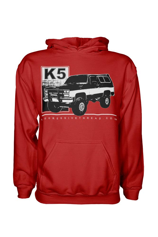 K5 Blazer Square Body Truck Hooded Sweatshirt | Aggressive Thread Squarebody Apparel